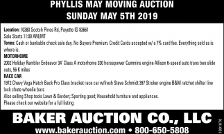 Phyllis May Moving Auction