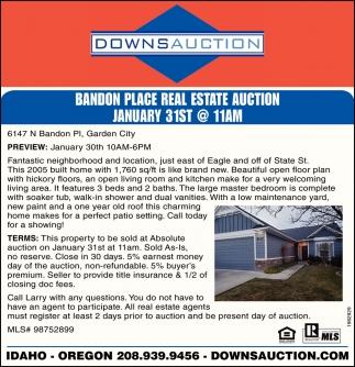 Bandon Place Real Estate Auction