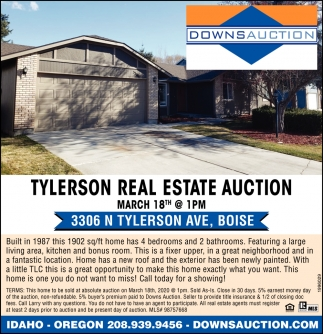 Tylerson Real Estate Auction